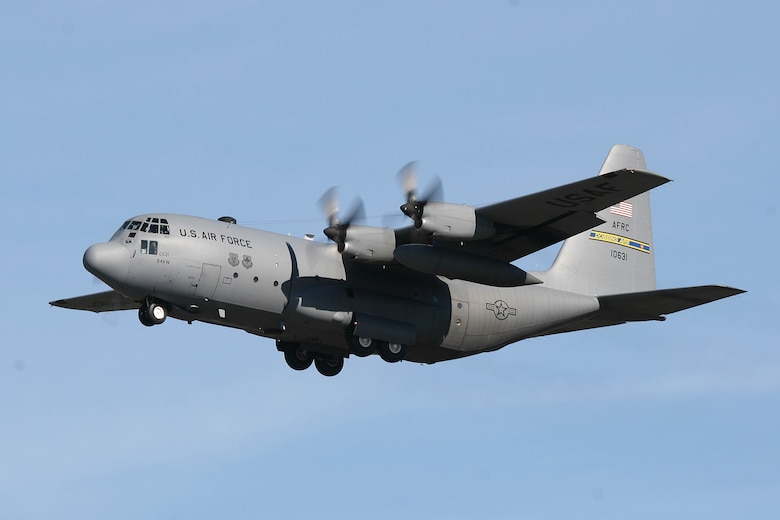 DOBBINS AIR RESERVE BASE, Ga. -- A 94th Airlift Wing C-130 prepares for approach and landing at Dobbins.