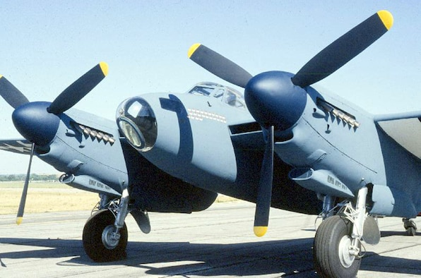 DAYTON, Ohio -- De Havilland DH 98 Mosquito at the National Museum of the United States Air Force. (U.S. Air Force photo)