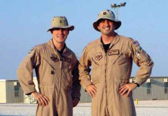 Capt. Jonathan Reed (right) got the chance to spend New Year's Day with his younger brother 1sat Lt. Ryan Reed while they were both deployed at different locations in support of the Global War on Terror.