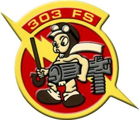 303rd Fighter Squadron Embossed