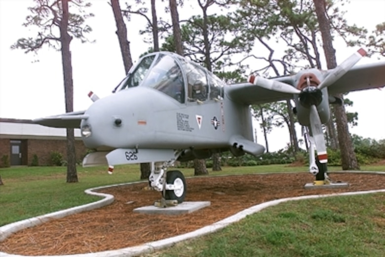 The OV-10A was a twin-turboprop short takeoff and landing aircraft conceived by the U.S. Marine Corps and developed under a U.S. Air Force, Navy and Marine Corps tri-service program. The first production OV-10A was ordered in 1966, and its initial flight took place in August 1967.