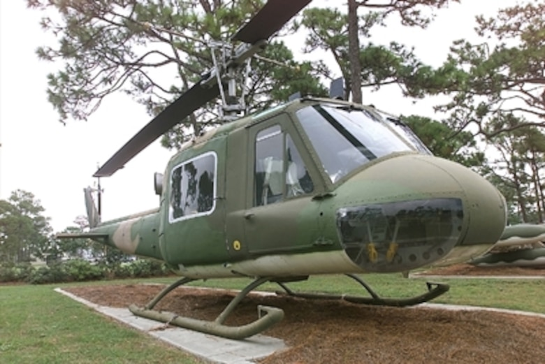 The Bell Iroquois, or the Huey, as it's better known, has been the most popular light utility helicopter ever produced. Bell produced two major versions of the UH-1 - the single engine Models 204 and 205 and the twin engine Models 212 and 412. Although both were UH-1s, there were enough differences to warrant considering them two separate aircraft. The H-1 series began as the Bell XH-60 to meet an Army requirement for a utility helicopter for front-line evacuation of casualties.