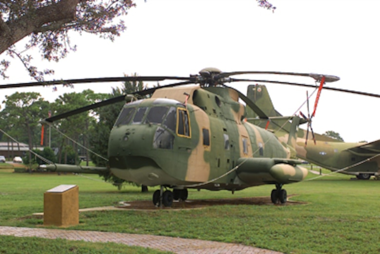 The CH-3E, one of the family of Sikorsky helicopters, served special operations at Hurlburt Field for more than seven years until replaced; by a large helicopter. Two 1,500-horse engines powered the CH-3E, which had a rotor diameter of 62 feet, a fuselage length of 57 feet 3 inches, and empty gross weights of 13,255 and 22,050 pounds respectively.