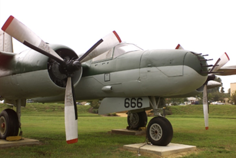 The Douglas XA-26 prototype first flew July 10, 1942, and the company began delivering the production model A-26B in August 1943. Douglas Invaders began arriving in England in September 1944 for assignment to the 9th Air Force and entered combat two months later on Nov. 19. Invaders appeared in the Pacific Theater in January 1945 and proved to be highly effective during the remaining months of the war. It proved to be one of the finest aircraft developed in World War II.
