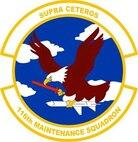 116th Maintenance Squadron patch