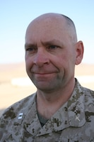 Navy Lt. Eugene Wozniak, Chaplain for 3rd Battalion, 8th Marine Regiment, was a prior Marine Corps Captain before joining the Chaplain Corps.