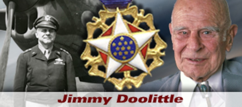 Gen. Jimmy Doolittle history spotlight graphic (U.S. Air Force graphic).