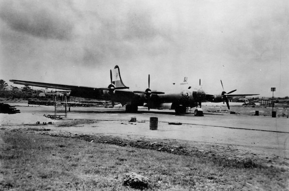 """Boeing B-29 """"Command Decision"""" during the Korean Conflict. (U.S. Air Force photo)"""
