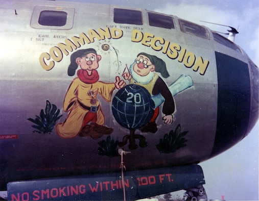 """Boeing B-29 """"Command Decision"""" nose art. (U.S. Air Force photo)"""