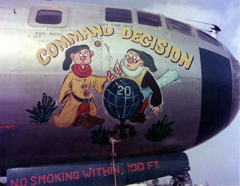 "Boeing B-29 ""Command Decision"" nose art. (U.S. Air Force photo)"
