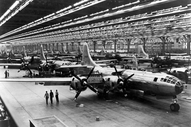 B-29 production line. (U.S. Air Force photo)