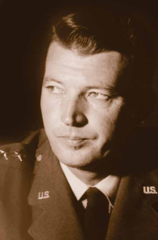 Photo of Gen. Schriever used on Page 9 of the June 23, 2005 Satellite Flyer.