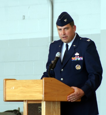 Col. Michael Smietana took command of 16th Mission Support Group change of command July 14.