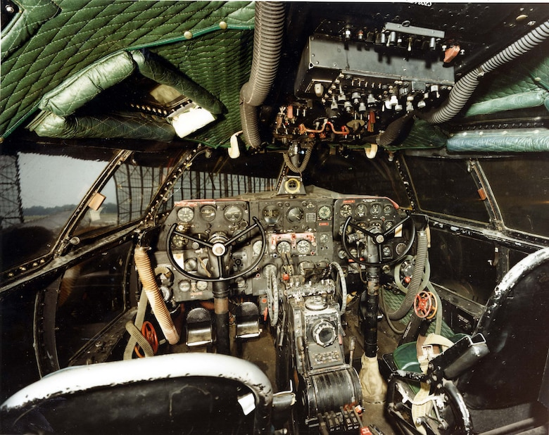 DAYTON, Ohio -- Curtiss C-46D cockpit at the National Museum of the United States Air Force. (U.S. Air Force photo)