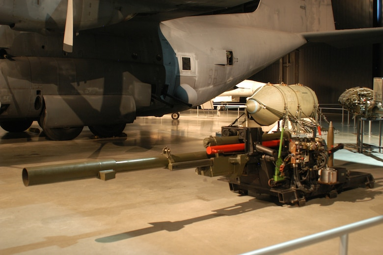 DAYTON, Ohio - M102 105mm Cannon on display at the National Museum of the U.S. Air Force. (U.S. Air Force photo)
