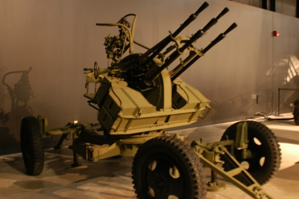 This ZPU-4 is a Soviet-built anti-aircraft gun. It is composed of four KPV 14.5mm heavy machine guns mounted on a four-wheel carriage. The ZPU-4 was used by the Iraqis in 1991 during Operation Desert Storm. (U.S. Air Force photo)