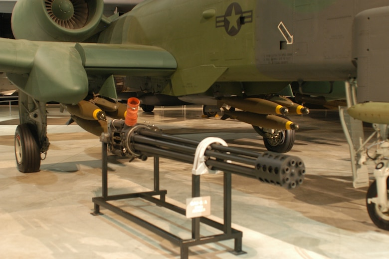 DAYTON, Ohio -- GAU-8/A Avenger on display at the National Museum of the U.S. Air Force. (U.S. Air Force photo)