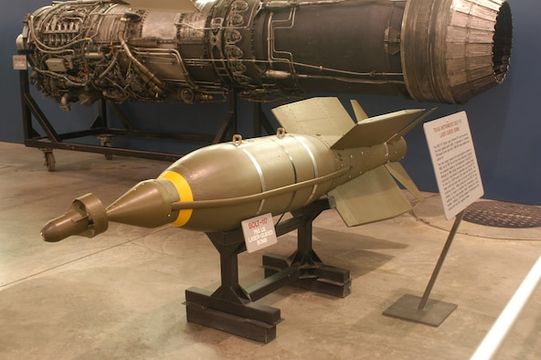 DAYTON, Ohio - Texas Instruments Bolt-117 Laser Guided Bomb on display at the National Museum of the U.S. Air Force. (U.S. Air Force photo)