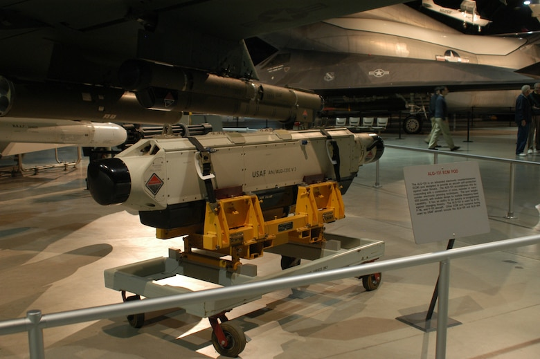 DAYTON, Ohio - ALQ-131 ECM Pod on display at the National Museum of the U.S. Air Force. (U.S. Air Force photo)