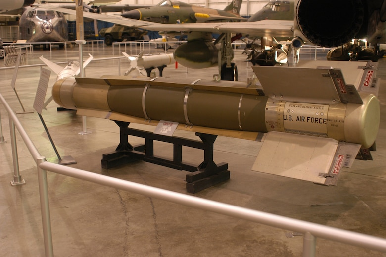DAYTON, Ohio - Rockwell International GBU-8 Electro-Optical Guided Bomb on display at the National Museum of the U.S. Air Force. (U.S. Air Force photo)