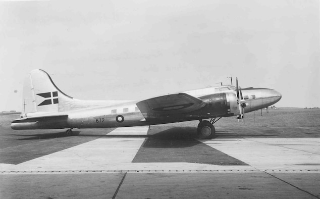 """Boeing B-17G """"Shoo Shoo Shoo Baby.""""  The aircraft carried the name """"Store Bjorn"""" while in service with Denmark."""