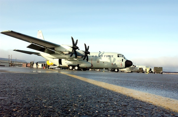 "The ""Hurricane Hunters"" from Keesler Air Force Base, Miss., flew their first operational mission into a storm in a new WC-130J Hercules on May 20, 2005, gathering data about Hurricane Adrian off the coast of El Salvador. (U.S. Air Force file photo)"