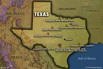 Air Force Bases In Texas Map Business Ideas 2013: Air Force Bases In Texas Map