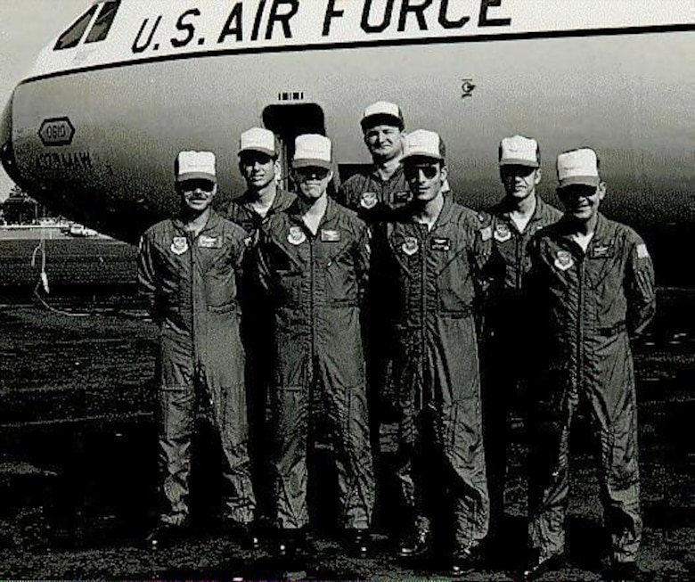 Proud members of the 1982 315th Military Airlift Wing Rodeo Team. Rodeo is the Air Mobility Command's international competition that test the participants in a number of mobility skills such as air drop, air refueling, and ground related operations.  (USAF Historical Photograph)