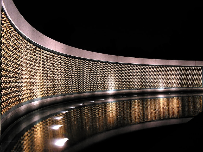 Each of the 4,000 stars on the fountain wall at the World War II Memorial in Washington, D.C., represents 100 American servicemembers who died during the war.
