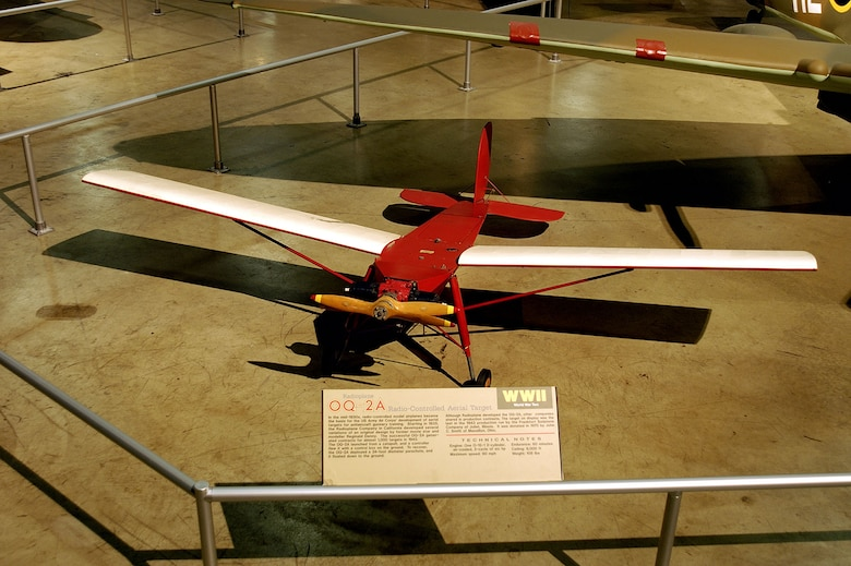 DAYTON, Ohio -- Radioplane OQ-2A in the World War II Gallery at the National Museum of the United States Air Force. (U.S. Air Force photo)