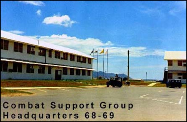 This is a photograph of the 315th Combat Support Group Headquarters Building at Phan Rang Air Base (PRAB), Republic of Vietnam.  PRAB was home to 3-1-5 from 1 August 1967 to 31 March 1972.  (Photograph courtesy of Mike Vogel, 315 SOW/CAMS)