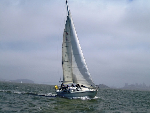 Travis members enjoy a day of sailing in the San Francisco Bay. The marina is a recreational activity of the 60th Services Squadron. For more information, visit www.60thServices.com or call (415) 332-2319. (Courtesy photo)