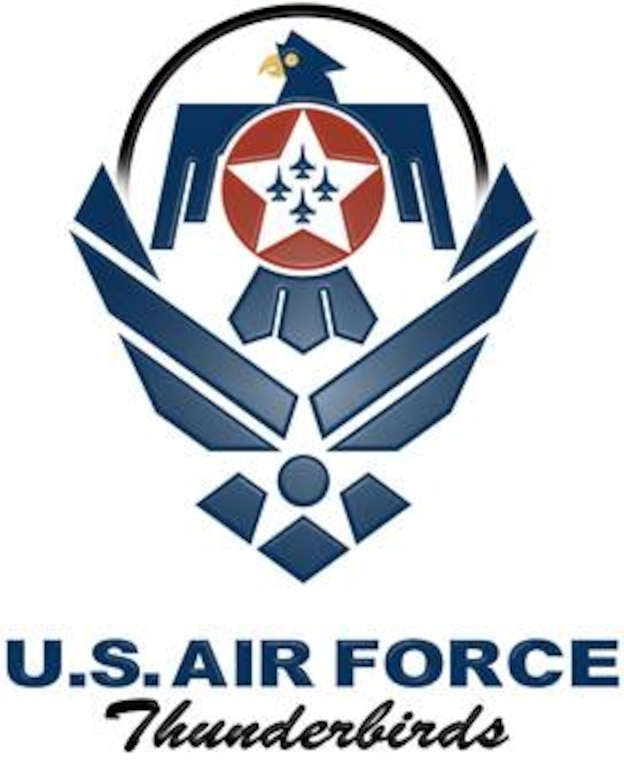 Air Force symbol with cradled Thunderbirds shield (color), U.S. Air Force graphic.