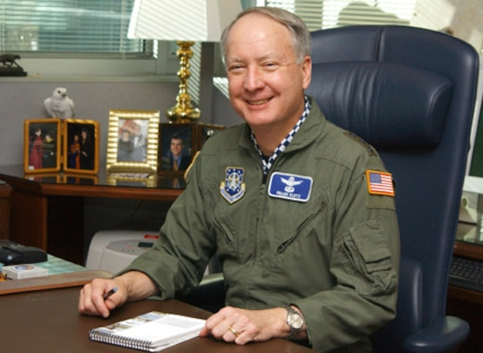 Lt. Gen. Frank Klotz, Air Force Space Command Vice Commander visited the Space and Missile Systems Center at Los Angeles Air Force Base, Calif., Jan 23 and 24 to meet the Center's space and acquisitions professionals and to review the major programs SMC has responsibility for.
