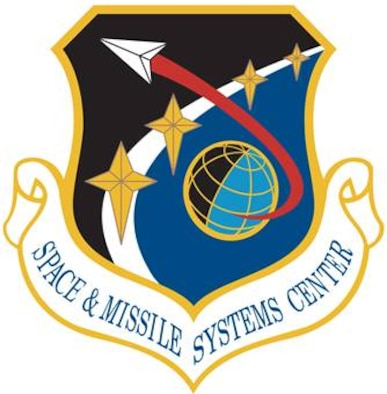 Space & Missile Systems Center Shield (Color).  In accordance with Chapter 3 of AFI 84-105, commercial reproduction of this emblem is NOT permitted without the permission of the proponent organizational/unit commander. Image provided by HQ, AFSPC/PAC. Image is 8.2x8.4 inches @ 300 ppi
