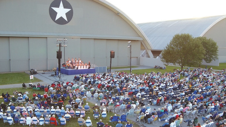 DAYTON, Ohio -- The U.S. Air Force Band of Flight partners with the National Museum of the United States Air Force to perform several concerts throughout the year. (U.S. Air Force photo)