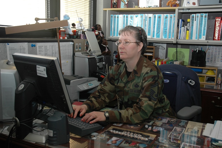 Senior Master Sgt. Martha Roy, AFRC's top personnel superintendent (U.S. Air Force Photo by Mr. Jeff Melvin)