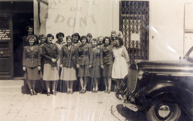 Capt. Smitty McClellan (front row, second from left) poses with a group of the Women's Army Corps unit she led during World War II. (Courtesy photo)