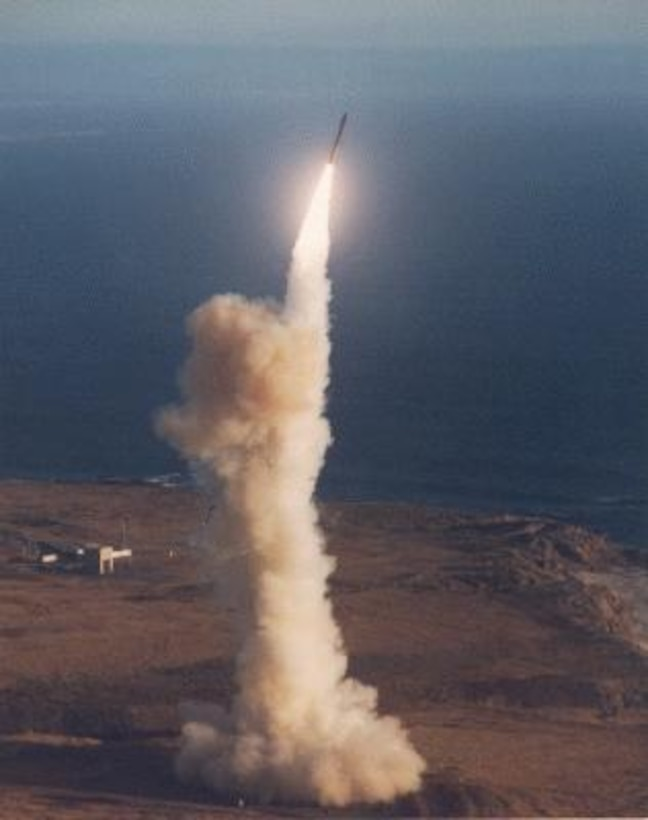 "The LGM-30G Minuteman intercontinental ballistic missile (ICBM) is an element of the nation's strategic deterrent forces. The ""L"" in LGM is the Department of Defense designation for silo-launched; ""G"" means surface attack; and ""M"" stands for guided missile."