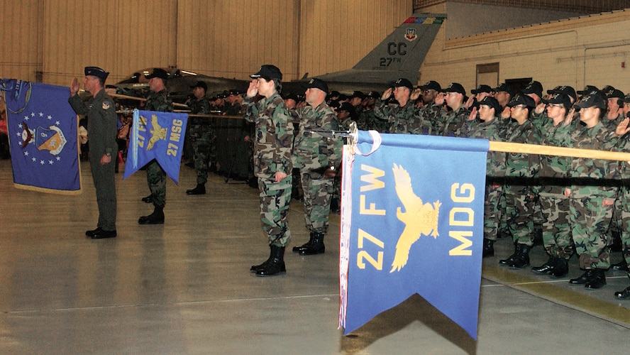 CANNON AIR FORCE BASE, N.M. -- The four groups of the wing were present in full force to witness their new commander assume command.