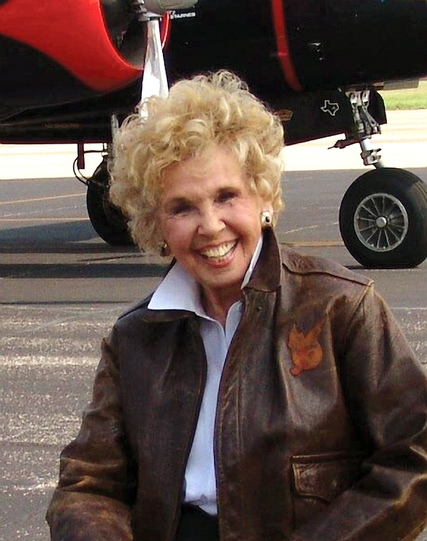 Deanie Parrish sits by her old aircraft. (Courtesy photo/Deanie Parrish)