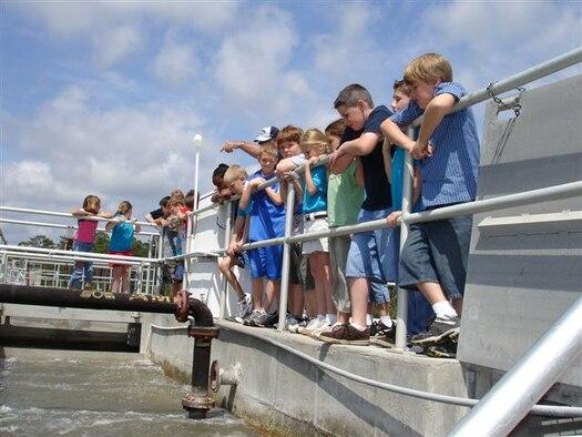 School children tour the award winning facility.