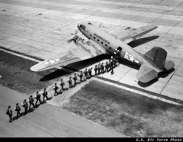 The C-47 Skytrain was one of the most durable and versatile of our aircraft, having served in three different wars with the 3-1-5.  General Dwight Eisenhower credited the C-47 as one of the four machines that won WWII, along with the bulldozer, landing craft, and the 6 by 6 truck.  (USAF Historical Photo)