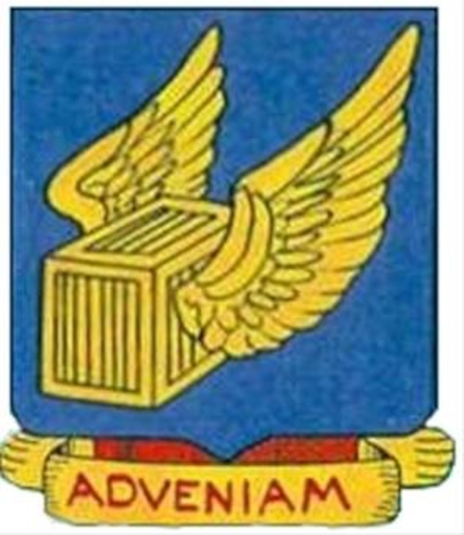 """This is the emblem used by the 315 Troop Carrier Group during World War Two.  The motto """"Adveniam"""" means """"I will come"""".  (USAF Historical Emblem)"""