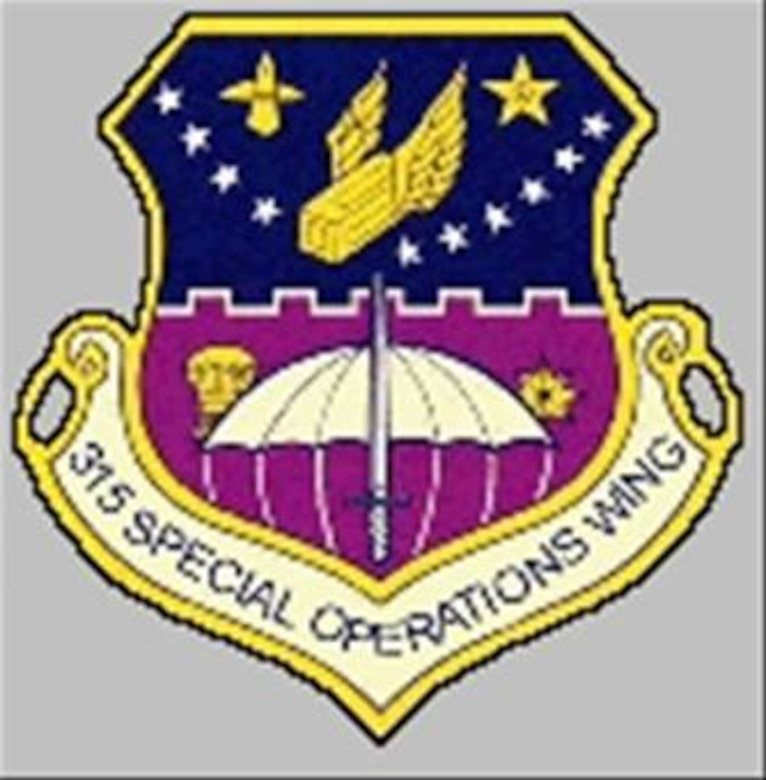 The 315 Special Operations Wing used this emblem from 1968 until 1970, when the 315 SOW was redesignated as the 315 Tactical Airlift Wing.  The emblem is identical to the one used by the 315 ACW.