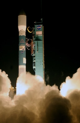 NASA's CloudSat and CALIPSO - Cloud-Aerosol Lidar and Infrared Pathfinder Satellite Observations - launched from here April 28 atop a Delta II rocket. The 22nd Space Operations Squadron at Schriever Air Force Base provided Air Force Satellite Control Network support for the mission. (U.S. Air Force photo by Thom Baur, Boeing)