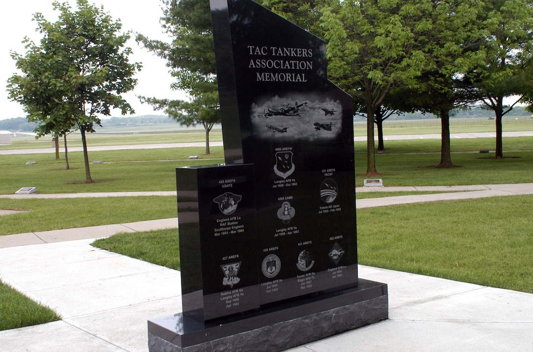 DAYTON, Ohio - TAC Tankers Association memorial (back) at Memorial Park at the National Museum of the U.S. Air Force (U.S. Air Force photo)