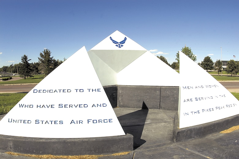 COLORADO SPRINGS, Colo. -- Memorial Park in Colorado Springs features a small monument dedicated to the Airmen who serve in the Pikes Peak Region. Other monuments at the park recognize the service and sacrifices of veterans from all military branches.