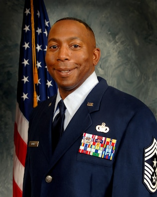 Chief Master Sgt. Clarence Moore, Jr., is the command chief for the 50th Space Wing. He has previously served as command chief for the 374th Airlift Wing and 5th Air Force at Yokota Air Base, Japan.