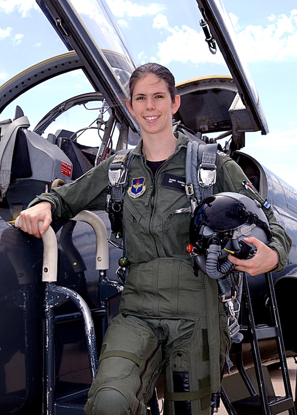 German Cadet Ulrike Flender is the first female from the European country to graduate from the Euro-NATO Joint Jet Pilot Training program at Sheppard Air Force Base, Texas. (U.S. Air Force photo)
